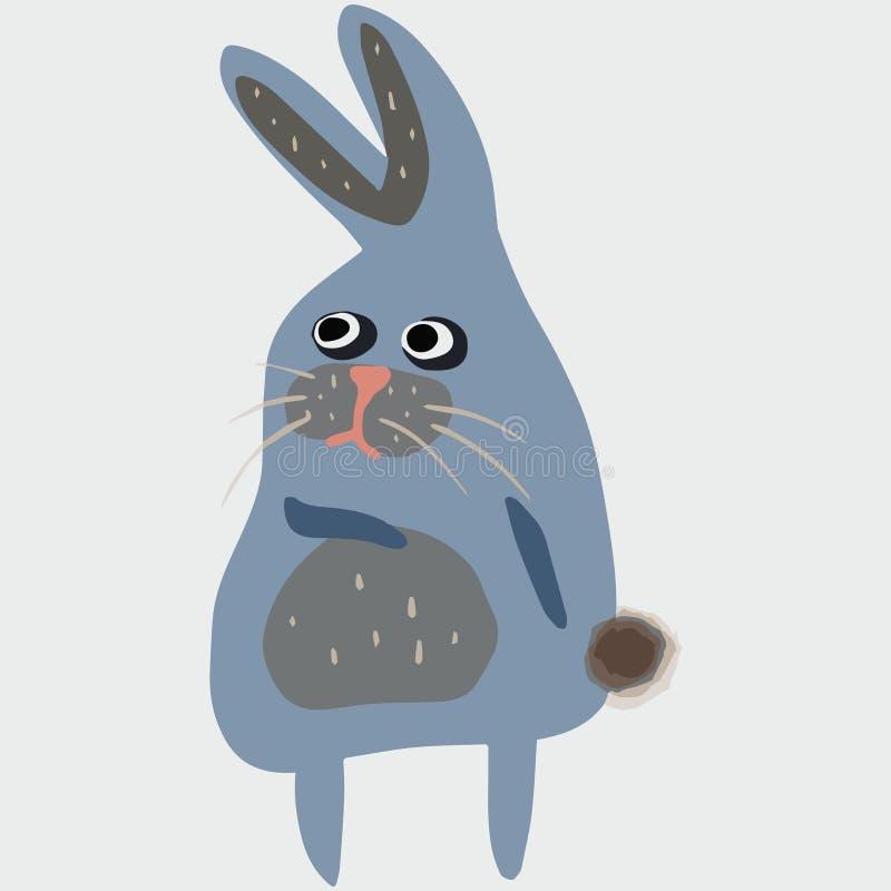 Vectorillustratie met konijntje in beeldverhaalstijl royalty-vrije illustratie