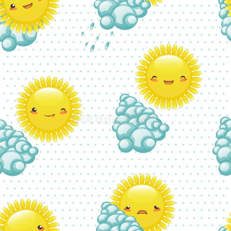 Vectorillustratie naadloos patroon van grappig royalty-vrije illustratie