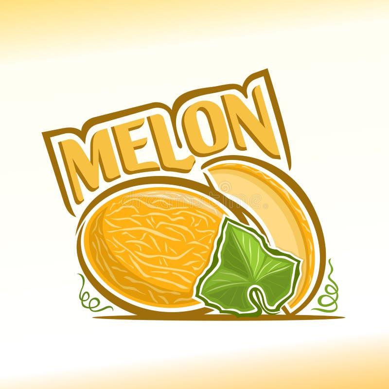 Vectorillustratie op het thema van meloen stock illustratie