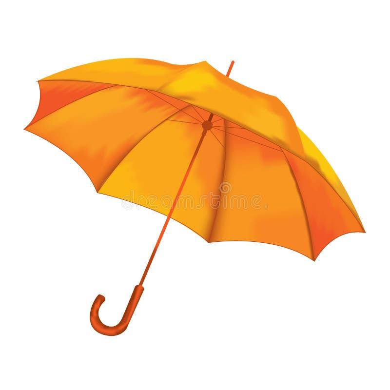 Vectorillustratie. Oranje paraplu. stock illustratie