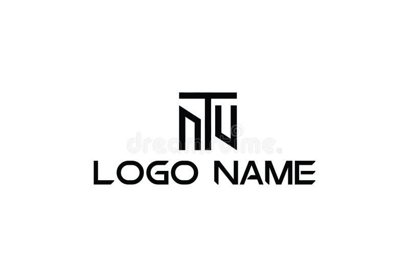 Vectorillustratie van Alfabet T Logo Design royalty-vrije illustratie