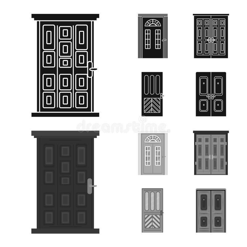 Vectorillustratie van architectuur en modern pictogram Reeks van architectuur en bouw vectorpictogram voor voorraad vector illustratie