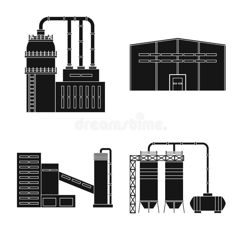 Vectorillustratie van architectuur en technologieembleem Inzameling van architectuur en de bouw vectorpictogram voor voorraad vector illustratie