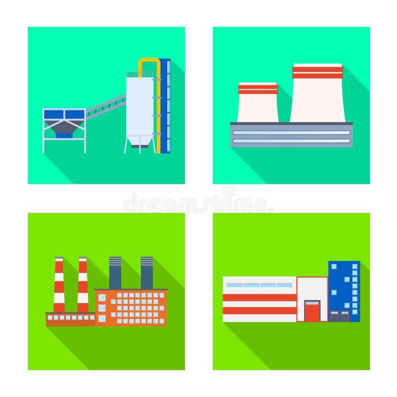 Vectorillustratie van architectuur en technologieembleem Inzameling van architectuur en de bouwvoorraadvector stock illustratie