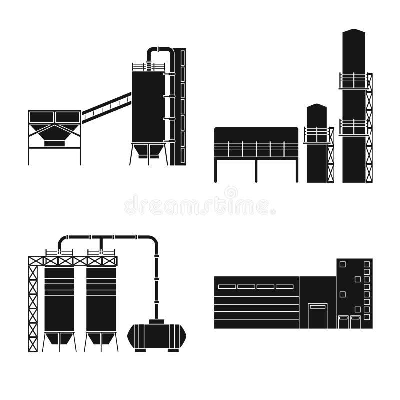 Vectorillustratie van architectuur en technologieembleem Reeks van architectuur en de bouwvoorraad vectorillustratie stock illustratie