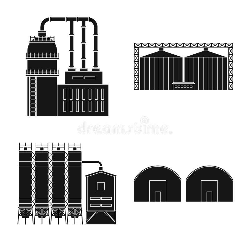 Vectorillustratie van architectuur en technologieteken Inzameling van architectuur en de bouwvoorraadsymbool voor Web royalty-vrije illustratie