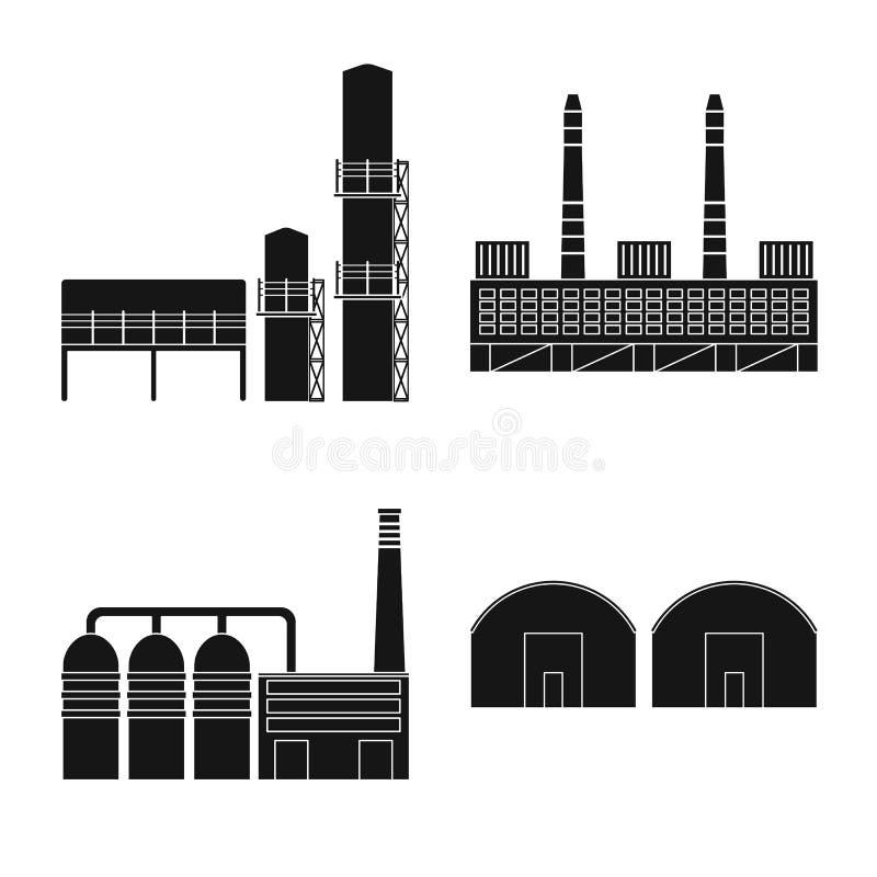 Vectorillustratie van architectuur en technologieteken Inzameling van architectuur en de bouwvoorraadvector stock illustratie