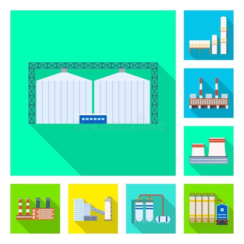 Vectorillustratie van architectuur en technologieteken Reeks van architectuur en de bouw vectorpictogram voor voorraad royalty-vrije illustratie