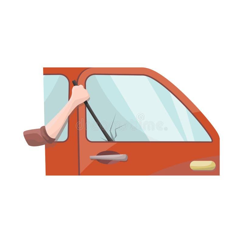 Vectorillustratie van auto en diefstalsymbool Reeks van auto en autovoorraad vectorillustratie stock illustratie