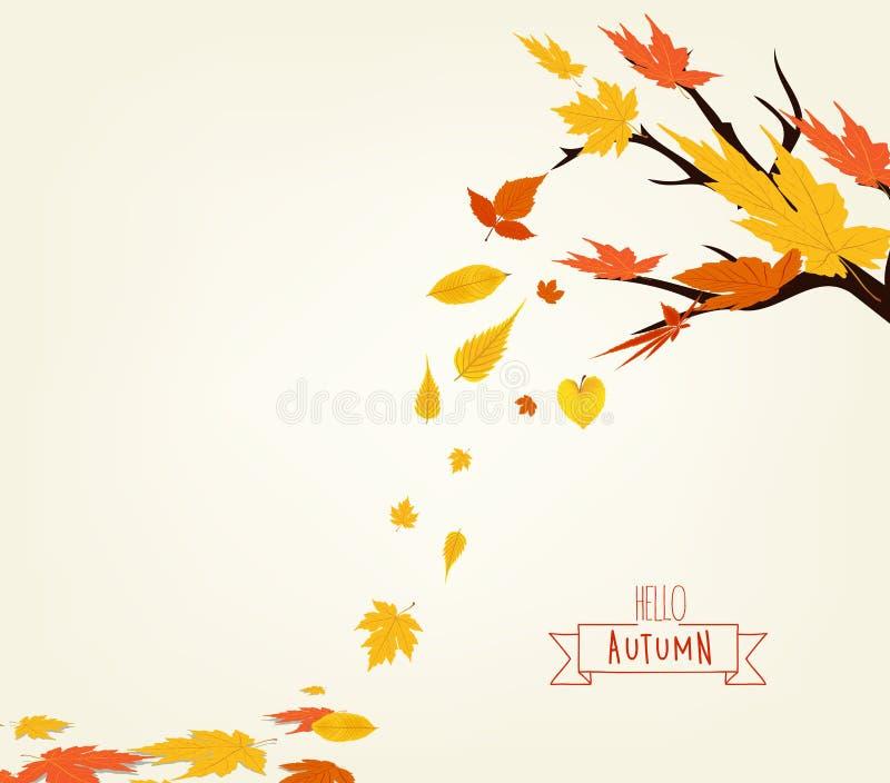 Vectorillustratie van Autumn Design stock illustratie