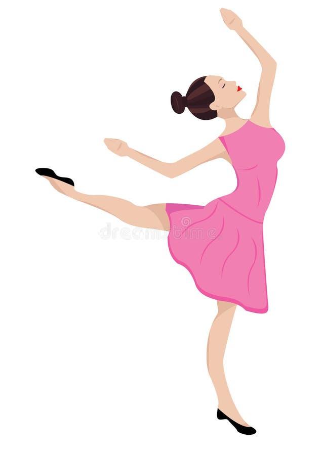 Vectorillustratie van ballerina royalty-vrije stock foto's