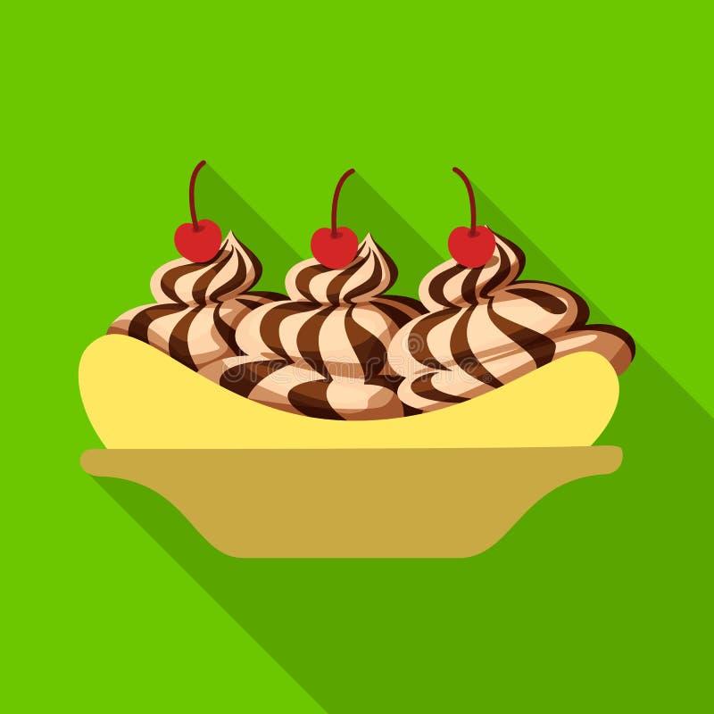 Vectorillustratie van banaan en voedselembleem Reeks van banaan en gepeld vectorpictogram voor voorraad stock illustratie