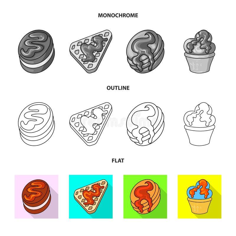 Vectorillustratie van banketbakkerij en culinair embleem Inzameling van banketbakkerij en productvoorraadsymbool voor Web stock illustratie