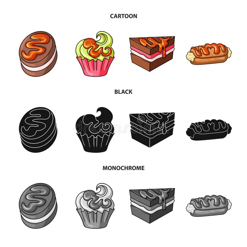 Vectorillustratie van banketbakkerij en culinair embleem Inzameling van banketbakkerij en productvoorraadvector vector illustratie