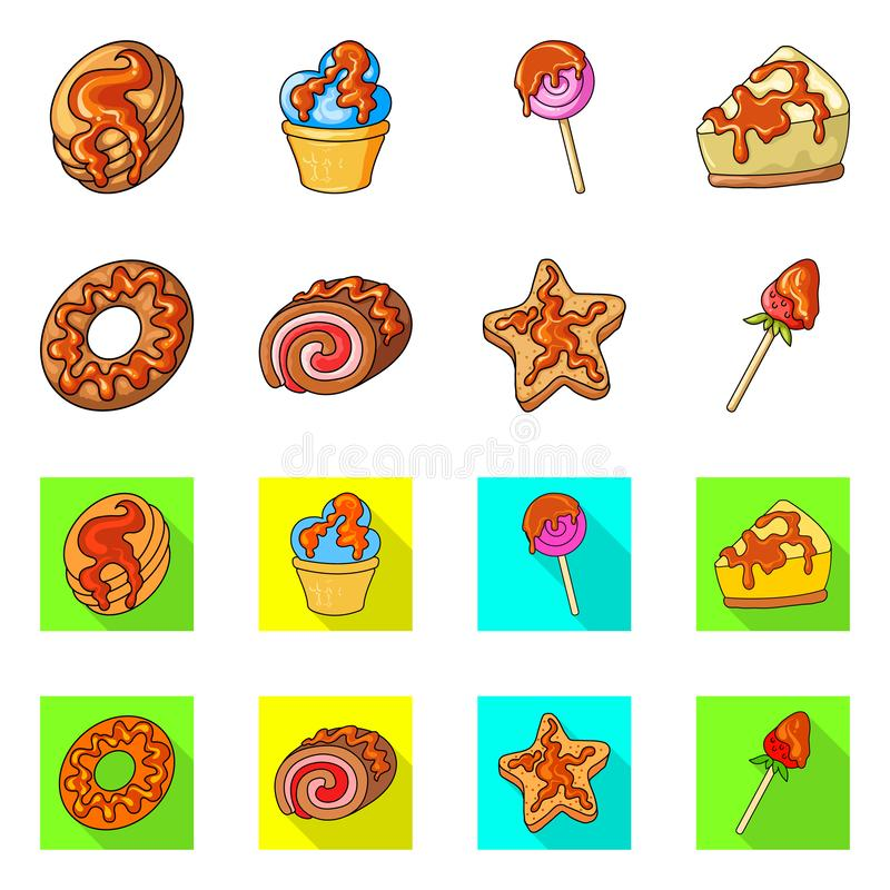 Vectorillustratie van banketbakkerij en culinair pictogram Inzameling van banketbakkerij en product vectorpictogram voor voorraad stock illustratie