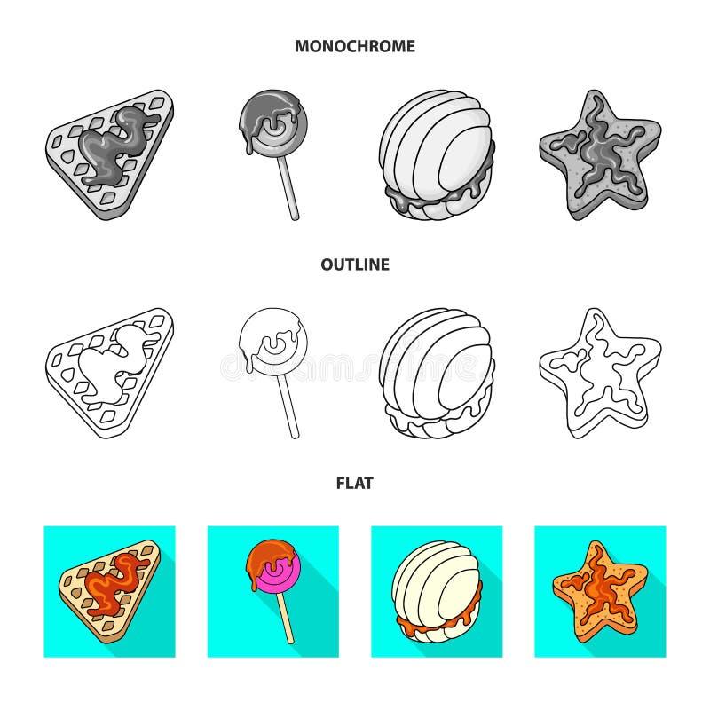 Vectorillustratie van banketbakkerij en culinair pictogram Inzameling van banketbakkerij en productvoorraadvector royalty-vrije illustratie
