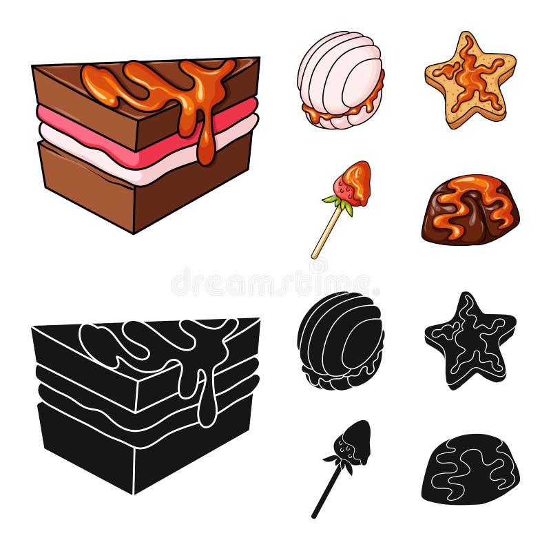 Vectorillustratie van banketbakkerij en culinair symbool Inzameling van banketbakkerij en productvoorraadsymbool voor Web stock illustratie