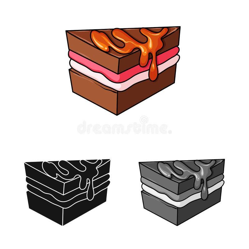 Vectorillustratie van banketbakkerij en culinair symbool Inzameling van banketbakkerij en productvoorraadvector royalty-vrije illustratie