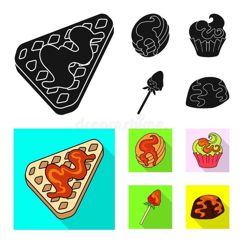 Vectorillustratie van banketbakkerij en culinair symbool Inzameling van banketbakkerij en productvoorraadvector vector illustratie