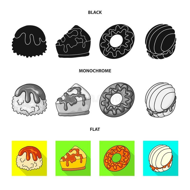 Vectorillustratie van banketbakkerij en culinair symbool Reeks van banketbakkerij en product vectorpictogram voor voorraad vector illustratie
