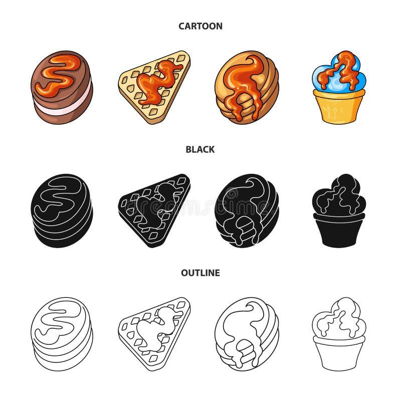 Vectorillustratie van banketbakkerij en culinair teken Inzameling van banketbakkerij en productvoorraadsymbool voor Web royalty-vrije illustratie