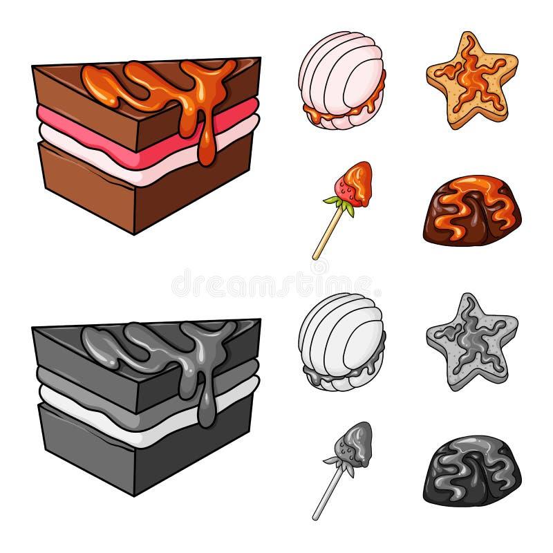 Vectorillustratie van banketbakkerij en culinair teken Inzameling van banketbakkerij en productvoorraadvector vector illustratie