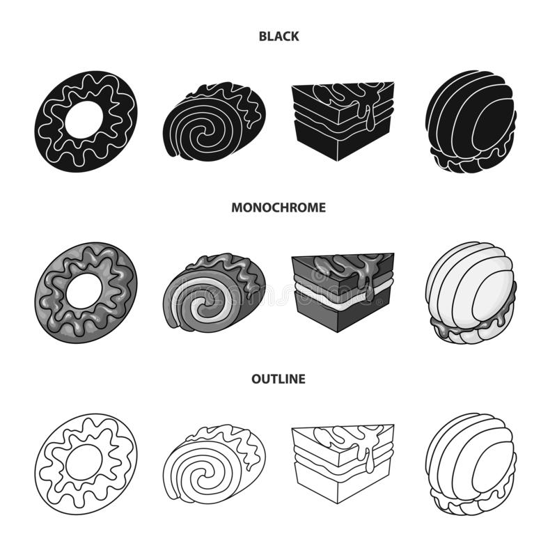 Vectorillustratie van banketbakkerij en culinair teken Inzameling van banketbakkerij en productvoorraadvector stock illustratie