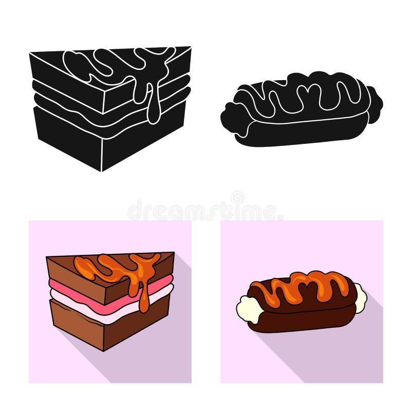 Vectorillustratie van banketbakkerij en culinair teken Inzameling van banketbakkerij en productvoorraadvector royalty-vrije illustratie