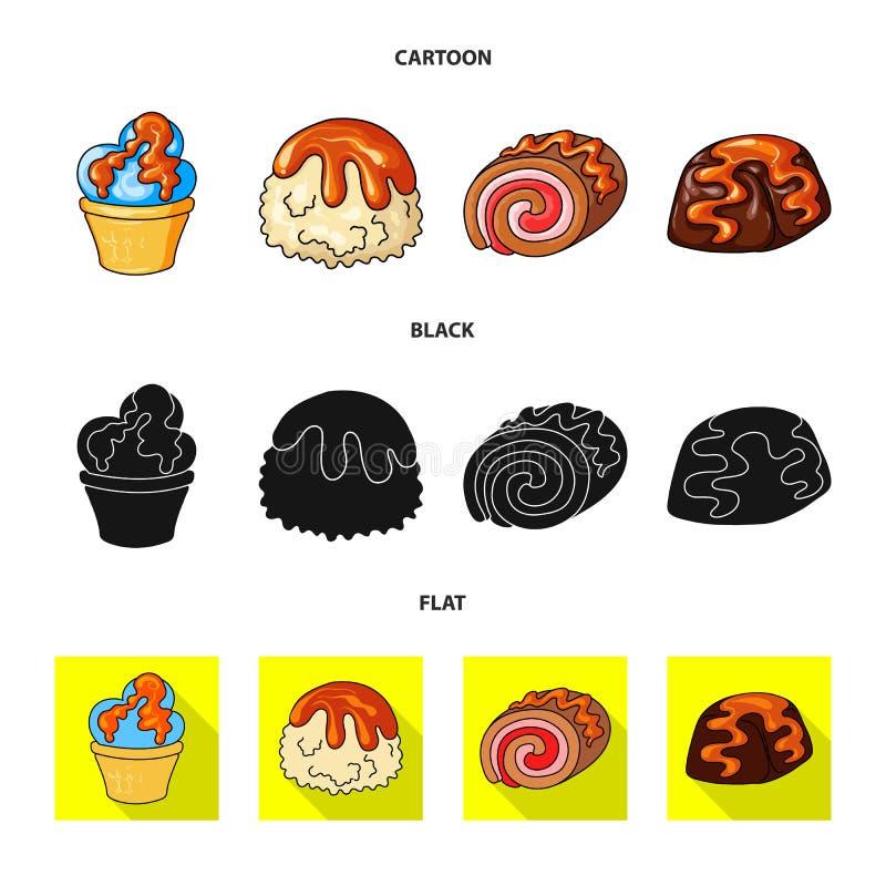 Vectorillustratie van banketbakkerij en culinair teken Reeks van banketbakkerij en productvoorraadsymbool voor Web stock illustratie