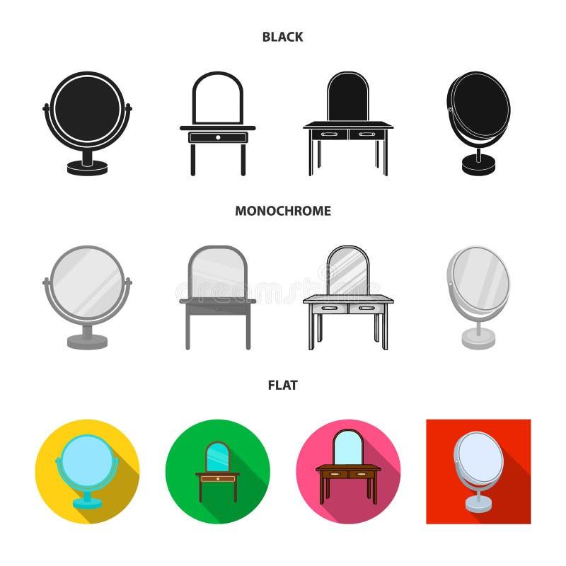 Vectorillustratie van beeldspraak en decoratief embleem Reeks van beeldspraak en zilveren voorraadsymbool voor Web vector illustratie