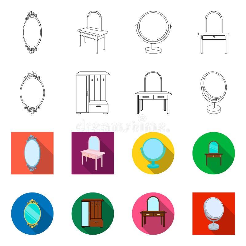 Vectorillustratie van beeldspraak en decoratief pictogram Reeks van beeldspraak en zilveren vectorpictogram voor voorraad stock illustratie