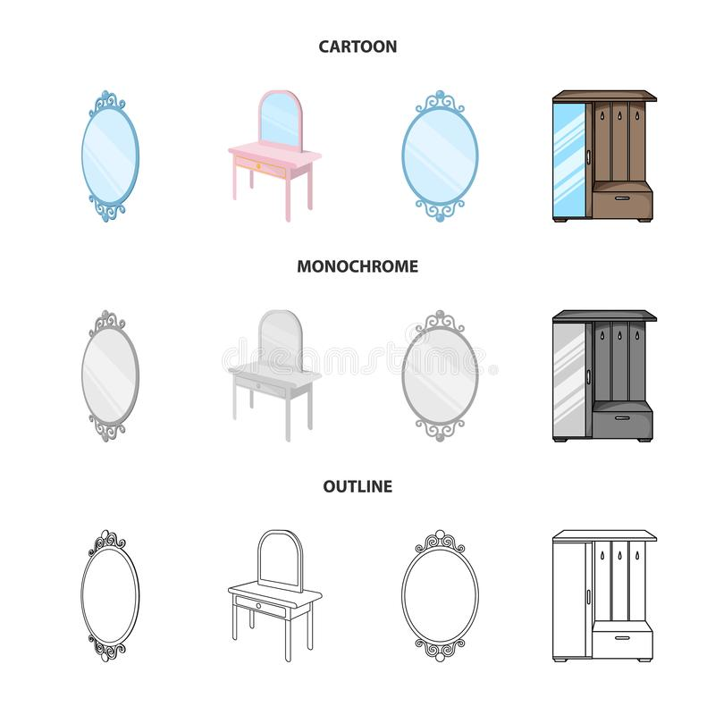 Vectorillustratie van beeldspraak en decoratief teken Reeks van beeldspraak en zilveren voorraad vectorillustratie royalty-vrije illustratie