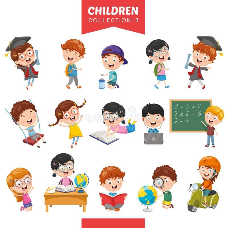 Vectorillustratie van Beeldverhaalkinderen royalty-vrije illustratie
