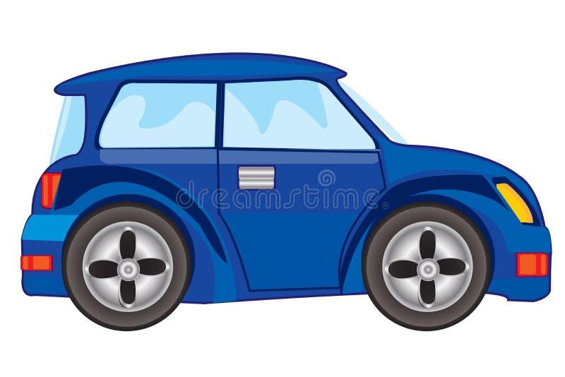Vectorillustratie van blauwe auto vector illustratie