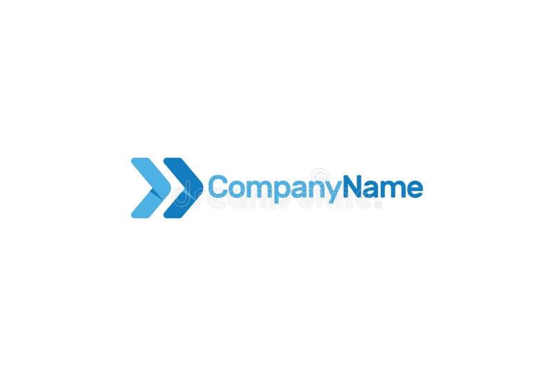 Vectorillustratie van Blauwe Pijl Logo Design vector illustratie