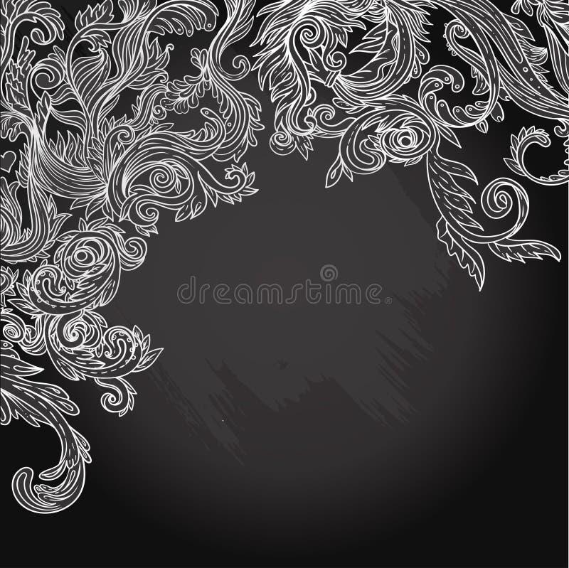 Vectorillustratie van bloemenontwerp op bord vector illustratie