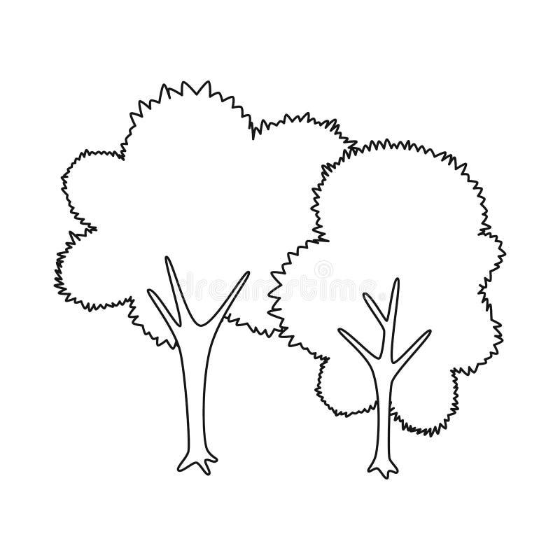 Vectorillustratie van boom en vergankelijk pictogram Inzameling van boom en groen voorraadsymbool voor Web royalty-vrije illustratie