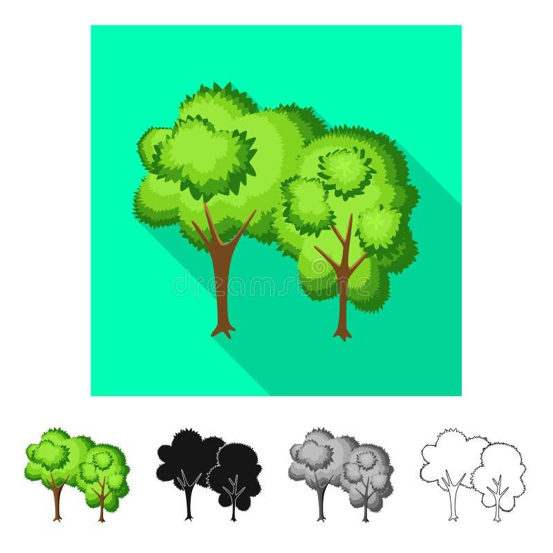 Vectorillustratie van boom en vergankelijk symbool Inzameling van boom en groen voorraadsymbool voor Web vector illustratie