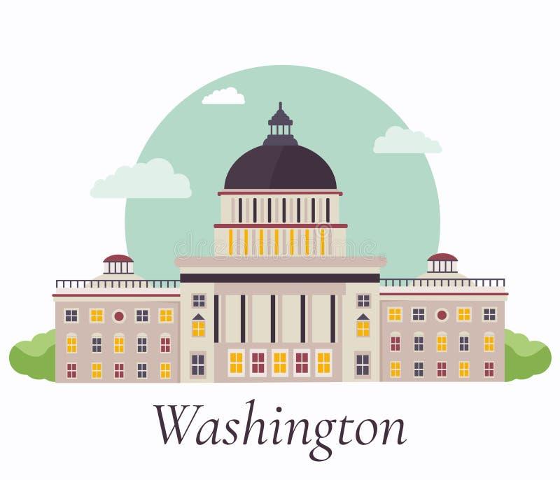 Vectorillustratie van Capitool in Washington stock illustratie
