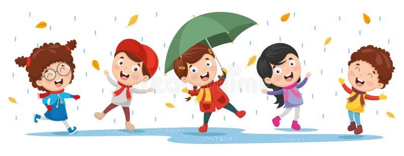 Vectorillustratie van ChristmasVector-Illustratie van Autumn Children vector illustratie