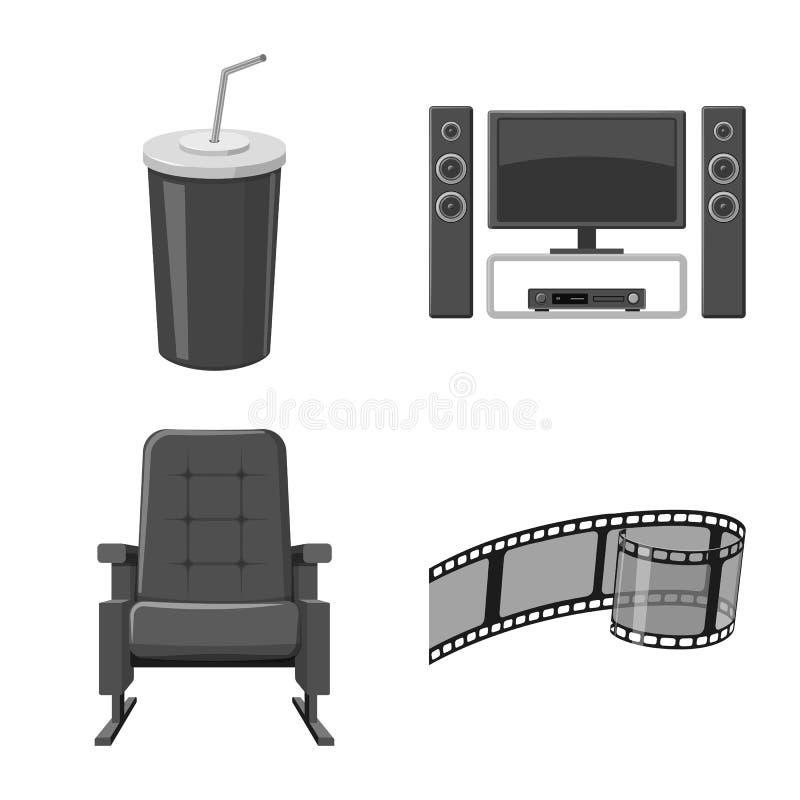 Vectorillustratie van cinematografie en studioembleem Inzameling van cinematografie en film vectorpictogram voor voorraad royalty-vrije illustratie