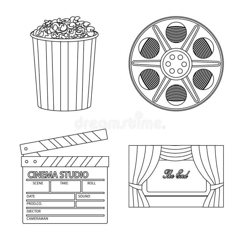 Vectorillustratie van cinematografie en studioembleem Inzameling van cinematografie en vermaak vectorpictogram voor vector illustratie
