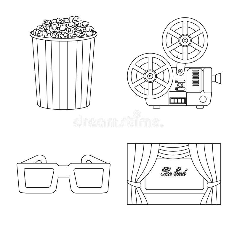 Vectorillustratie van cinematografie en studioteken Reeks van cinematografie en vermaak vectorpictogram voor voorraad royalty-vrije illustratie
