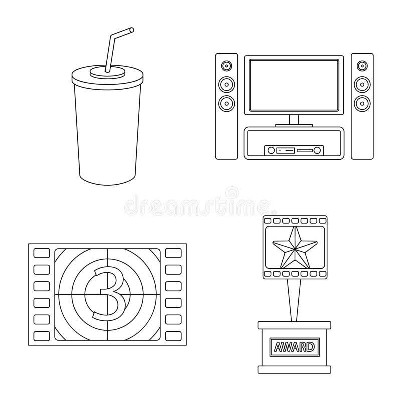 Vectorillustratie van cinematografie en studioteken Reeks van cinematografie en vermaak vectorpictogram voor voorraad stock illustratie