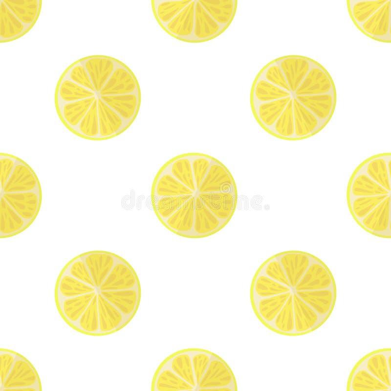 Vectorillustratie van citroenen op een lichte achtergrond Helder naadloos patroon met een sappig citroenbeeld royalty-vrije illustratie
