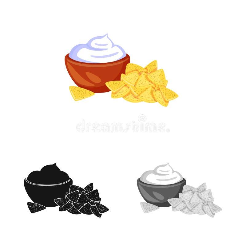 Vectorillustratie van cracker en koekjespictogram Reeks van cracker en room vectorpictogram voor voorraad vector illustratie