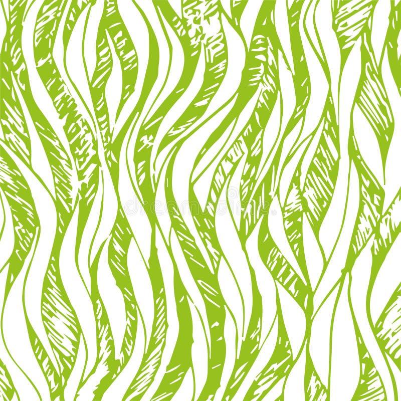 Vectorillustratie van de achtergrondabstractie de groene lijn voor ontwerp en decor royalty-vrije illustratie