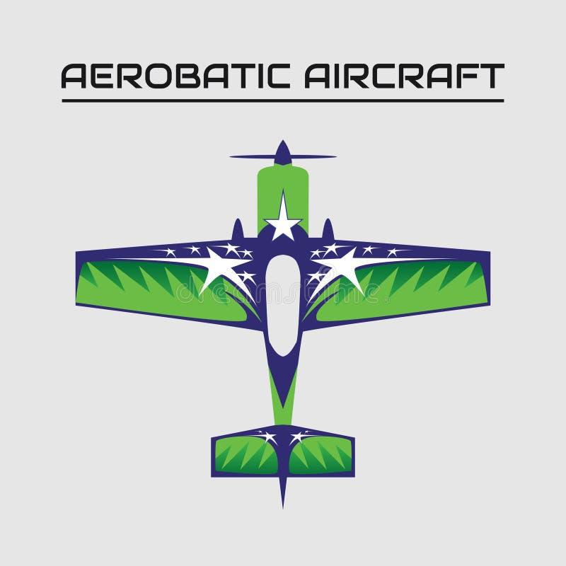 Vectorillustratie van de aerobatic vliegtuigen van mx2 royalty-vrije illustratie