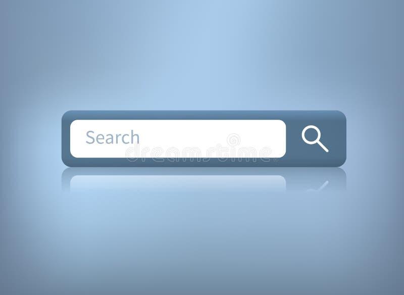 Vectorillustratie van de bar van het Webonderzoek op blauwe achtergrond vector illustratie