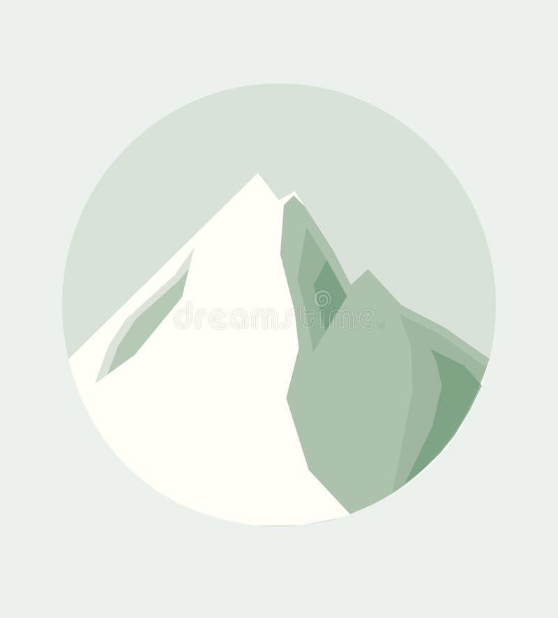 Vectorillustratie van de Bovenkant van een Berg stock afbeelding